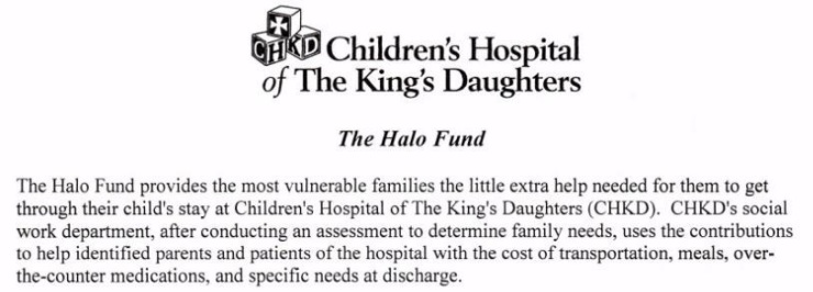 CHKD Halo Fund